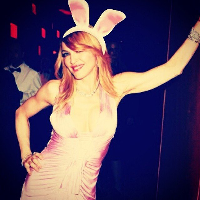 Madonna looked like a Mean Girls-style bunny. Source: Instagram user madonna