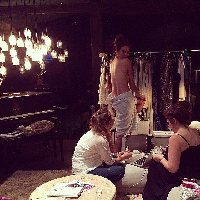 Chrissy Teigen got topless in Thailand. Source: Instagram user chrissyteigen