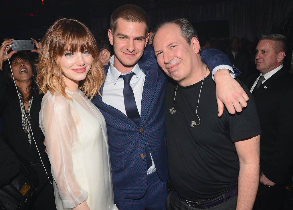 On Thursday, Emma Stone, Andrew Garfield, and Hans Zimmer met up at the NYC premiere of The Amazing Spider-Man 2.