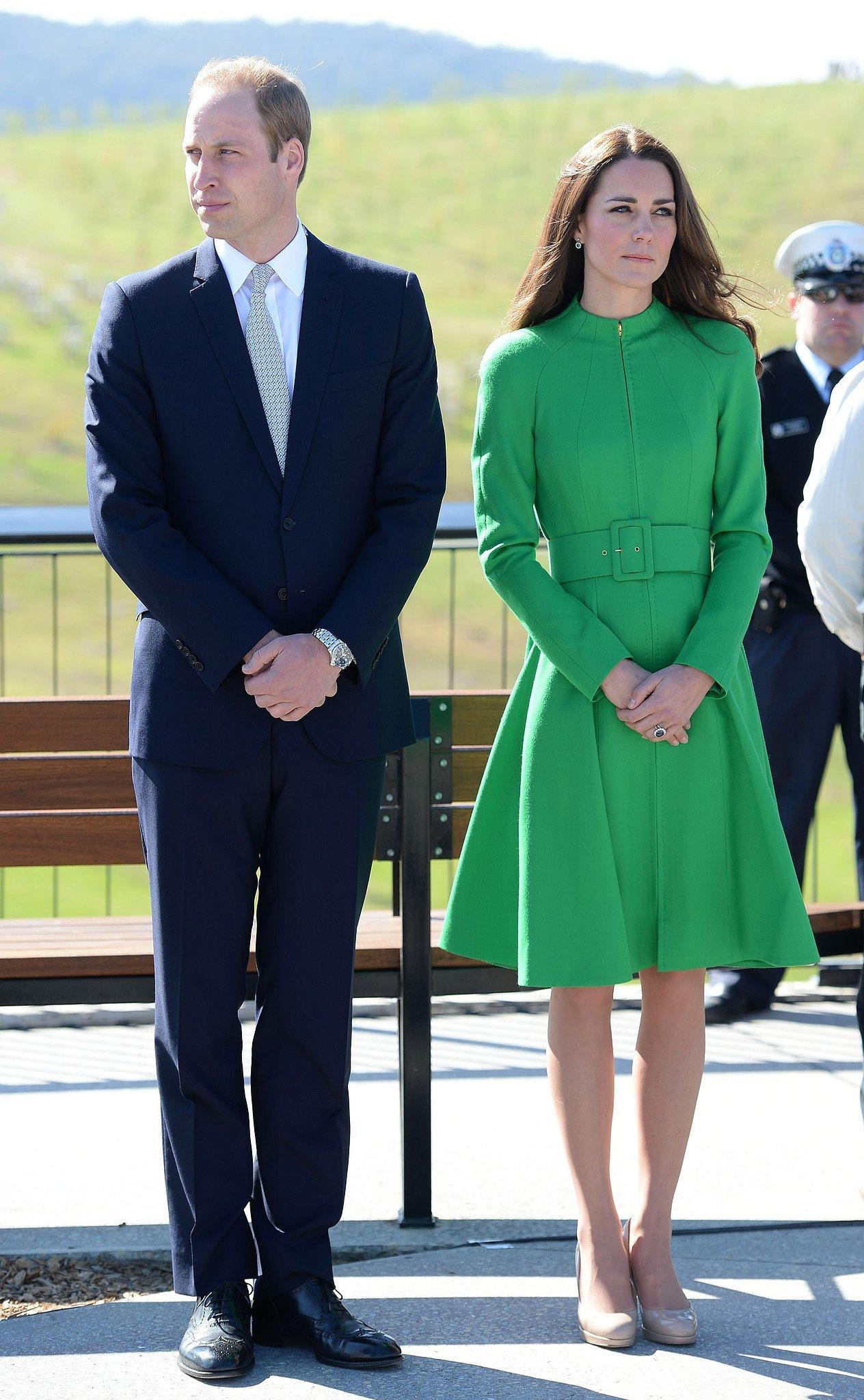 Kate Middleton at Australia's National Arboretum in 2014