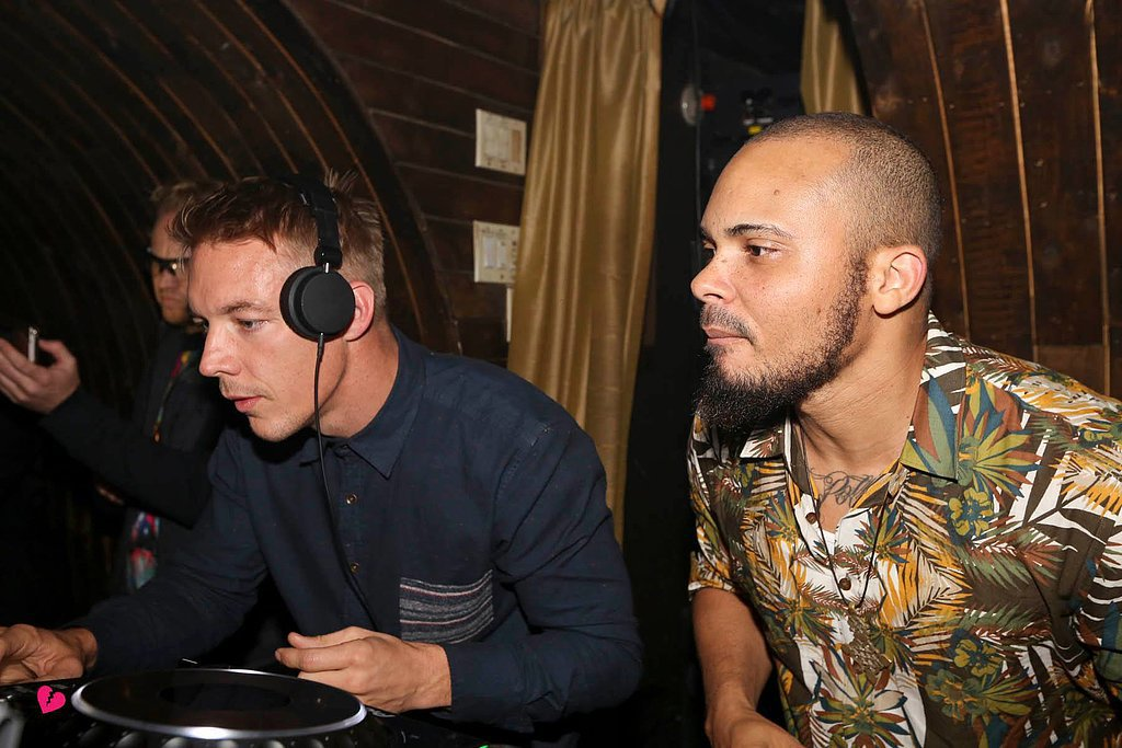 Diplo took to the turntables alongside birthday boy Walshy Fire. Source: Facebook user 1 Oak NY