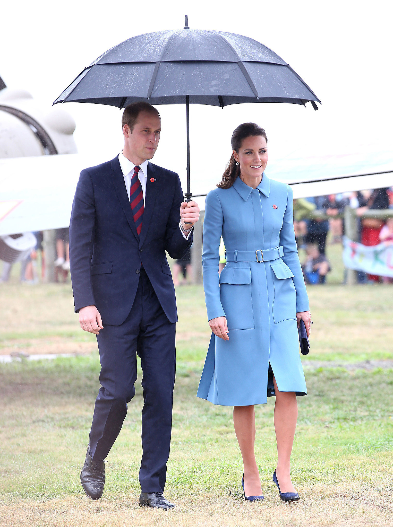 The Royal Couple at the Knights of the Sky Exhibit