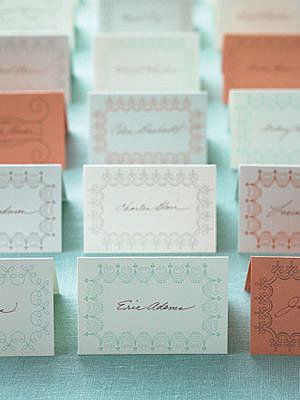 Charming Place Cards