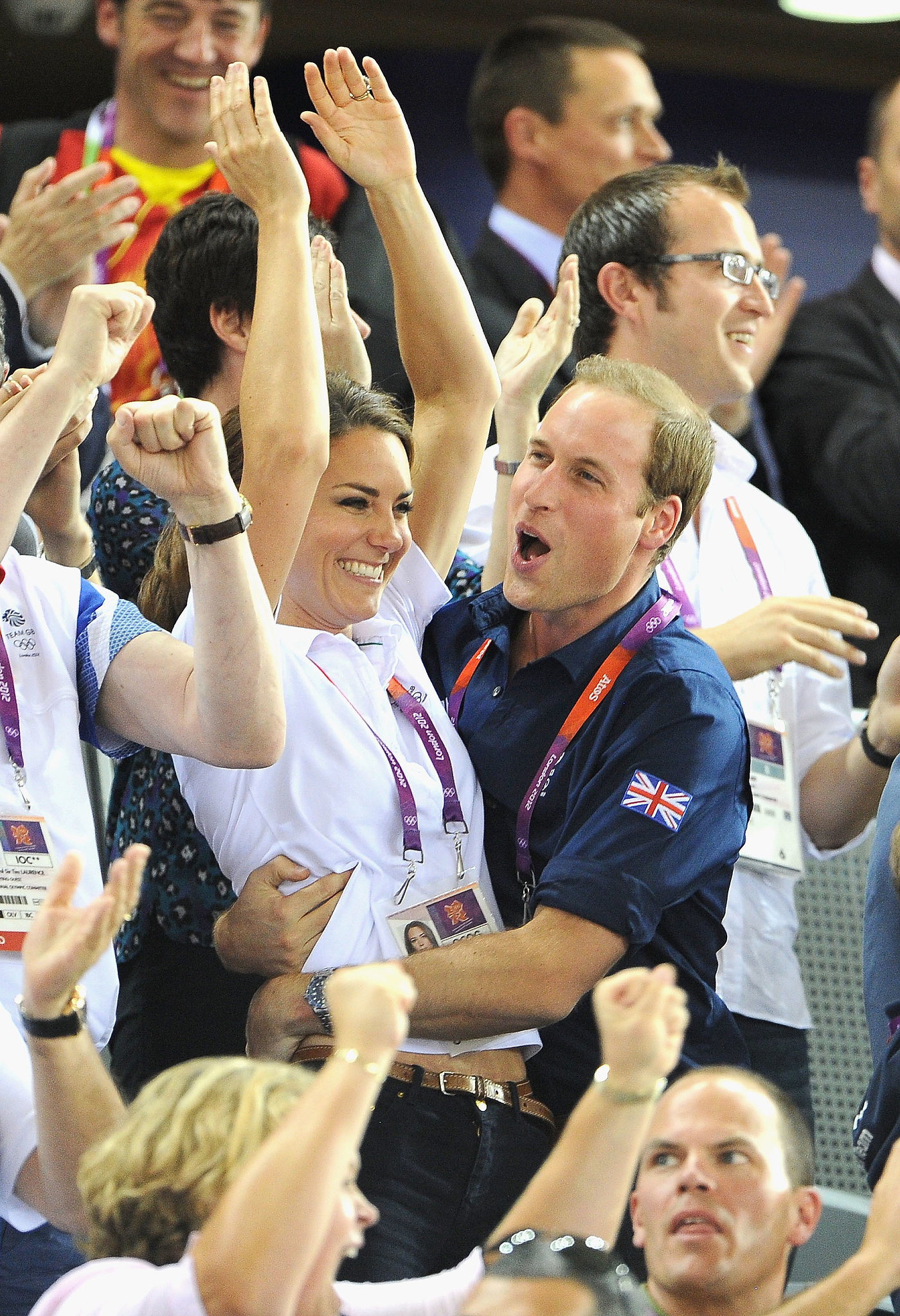 Kate Middleton and Prince William couldn't contain their excitement during the Summer 2012 Olympics in London.