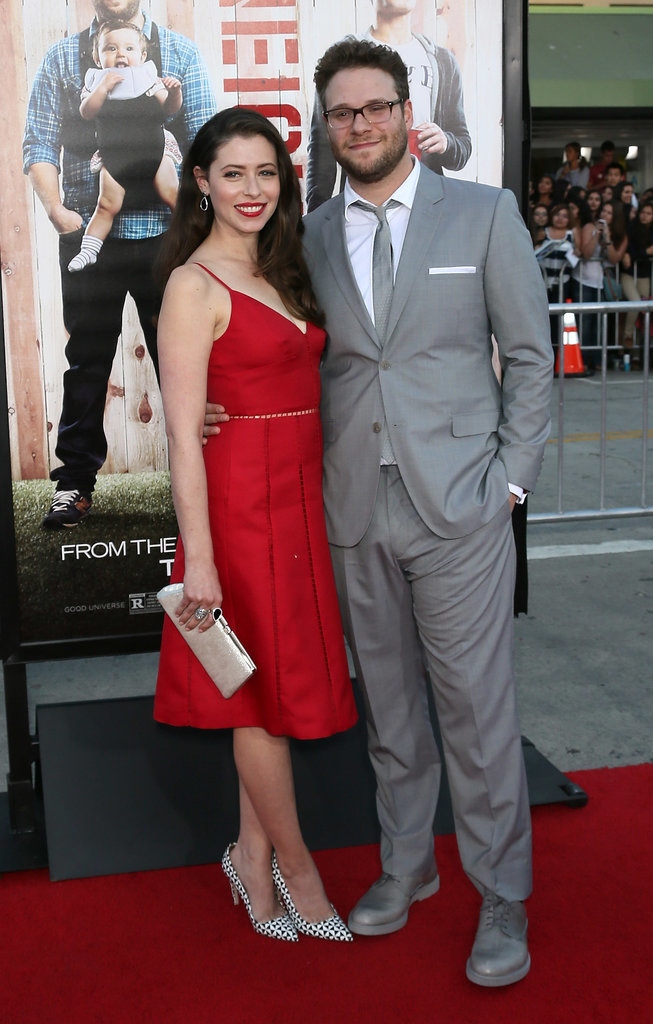Seth brought his wife, Lauren Miller, with him to the big premiere.