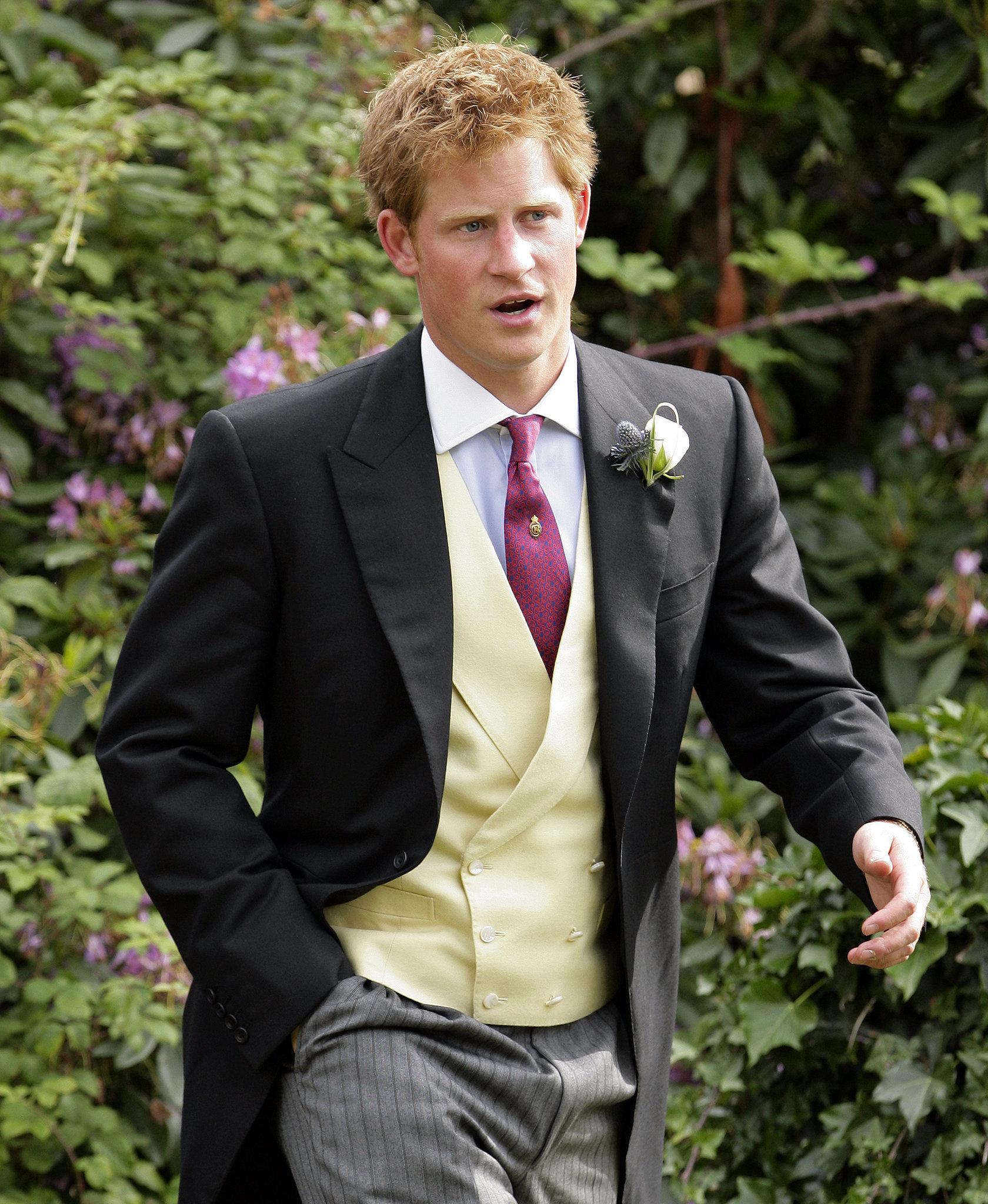 Harry attended a friend's wedding in July 2010.
