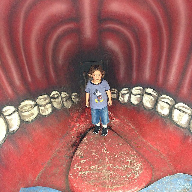 Arthur Bleick experienced what it's like inside a whale during a visit to New Orleans. Source: Instagram user therealselmablair
