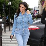 Kim Kardashian Can't Help Herself — She Even Makes Denim on Denim Sexy