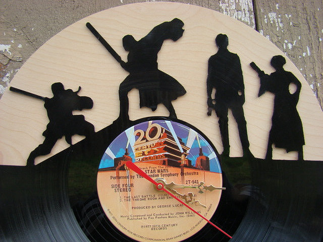 Star Wars and a vinyl record? Say no more. Just try to think of a better way to keep track of time than with this upcycled character clock ($52).  — LM
