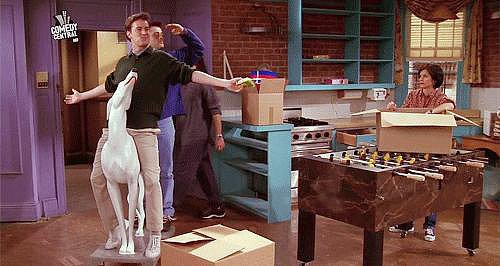 And, Obviousy, When Chandler and Joey Make This Epic Entrance