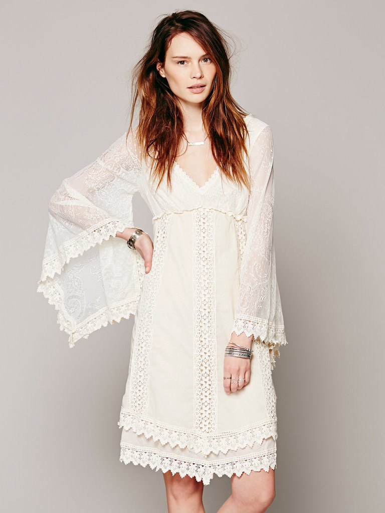 Free People White Crochet Dress