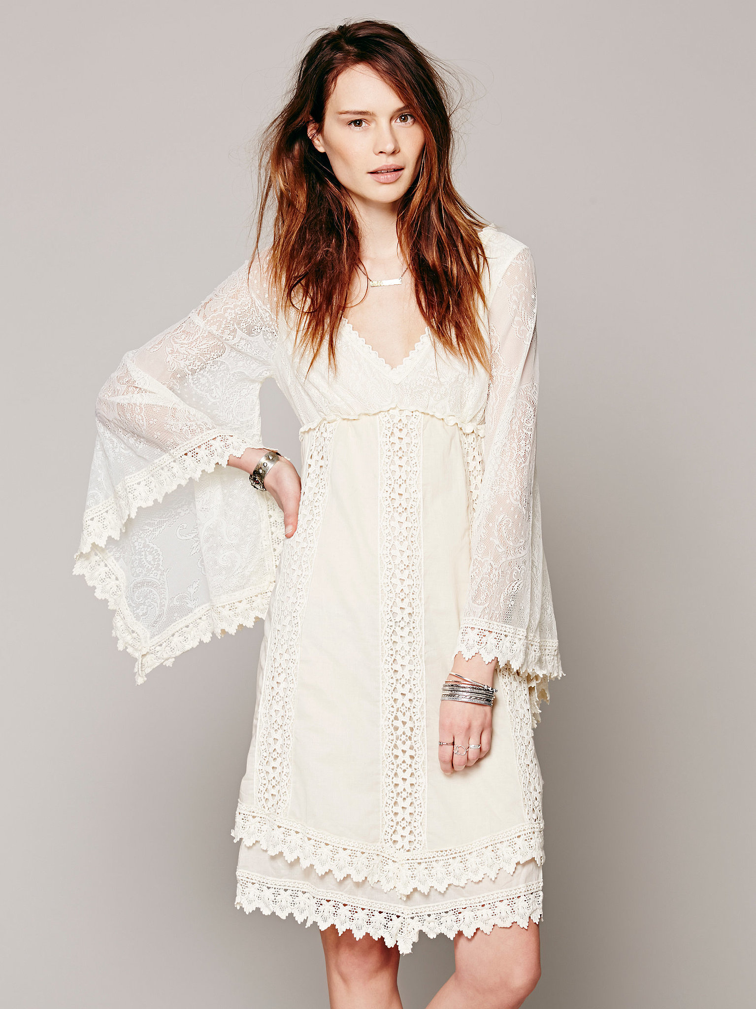 WHITE CROCHET DRESS - Gunda Daras