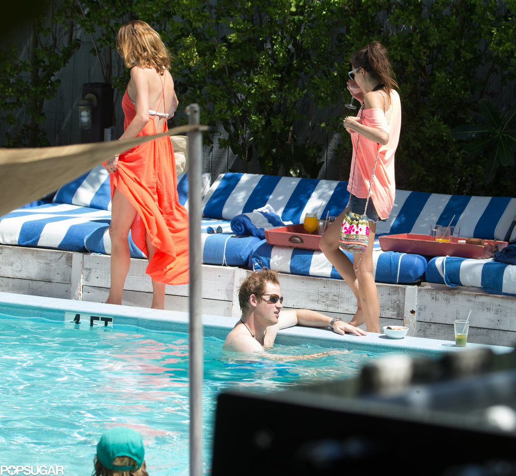 Single Prince Harry Parties Poolside in Miami