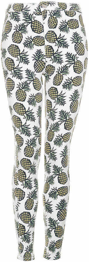 Topshop Pineapple-Print Pants