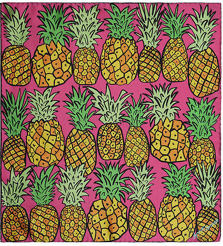 Anna Coroneo Pineapple-Print Scarf