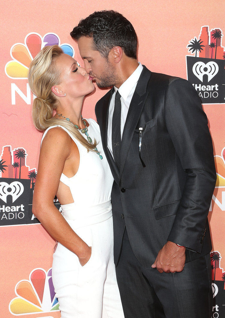 Luke Bryan Kissed His Wife on the Red Carpet