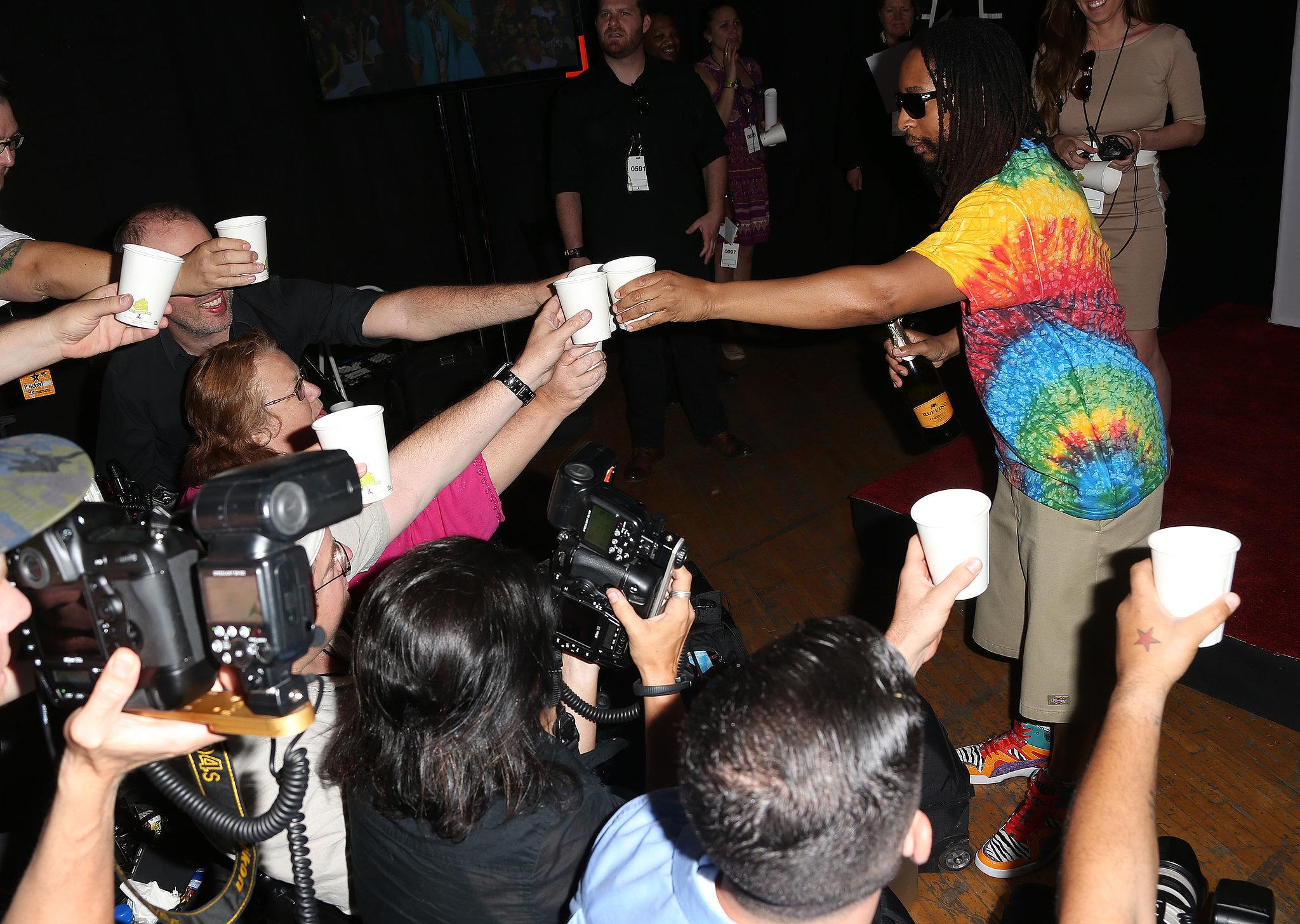 The Press Got a Toast From Lil Jon