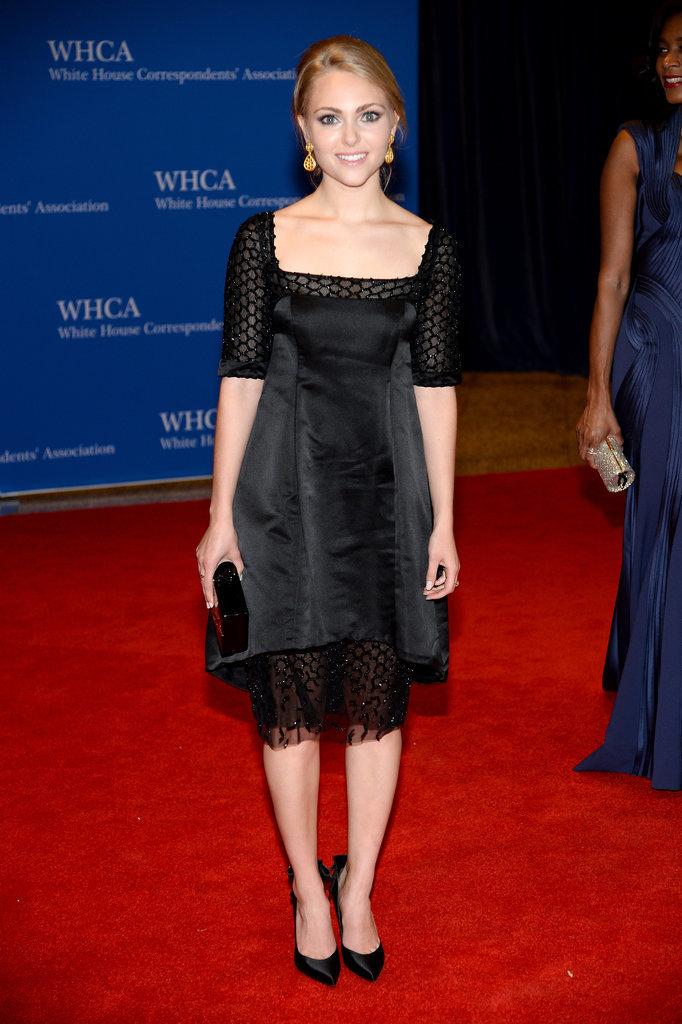 AnnaSophia Robb wore all black.
