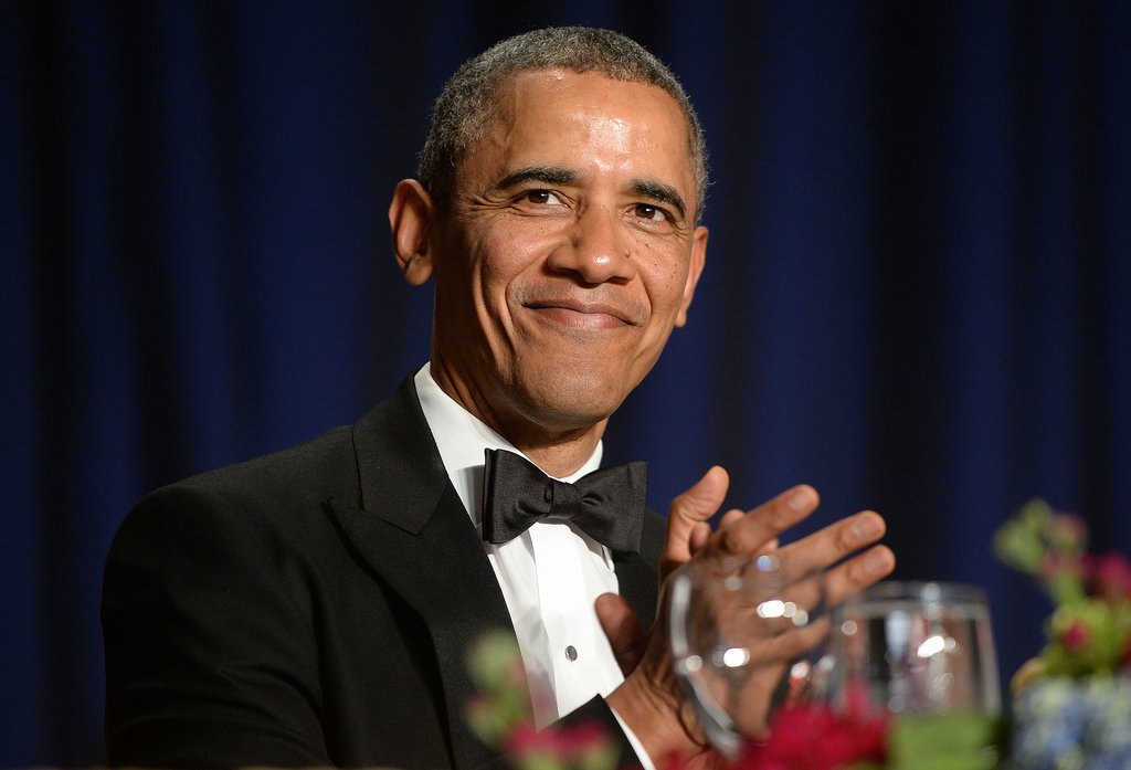 President Barack Obama clapped as the event kicked off.