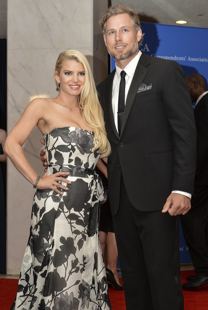 Jessica Simpson and Eric Johnson were one of the celebrity couples at the star-studded White House Correspondents' Dinner in Washington DC on Saturday.