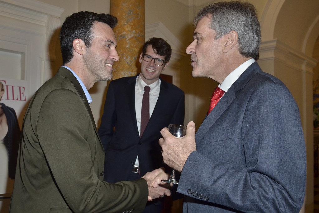 Timothy Simons couldn't help but chuckle as his Veep costar Reid Scott chatted with British Ambassador Peter Westmacott.