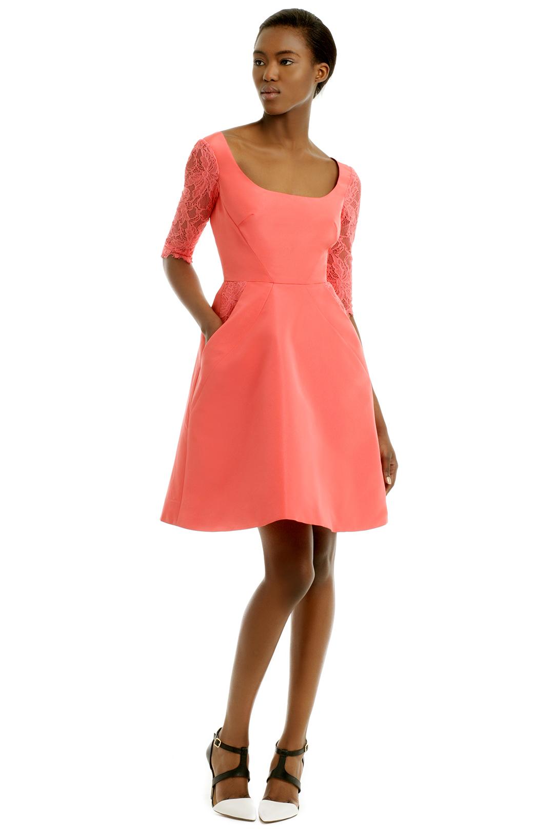 Monique Lhuillier Peach Kiss Dress