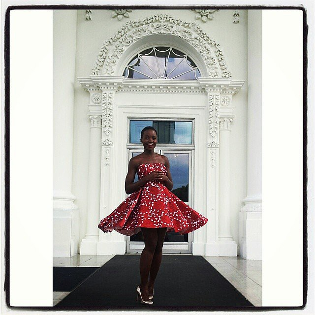 Lupita made a fashionable appearance at the White House over the weekend.  Source: Instagram user lupitanyongo