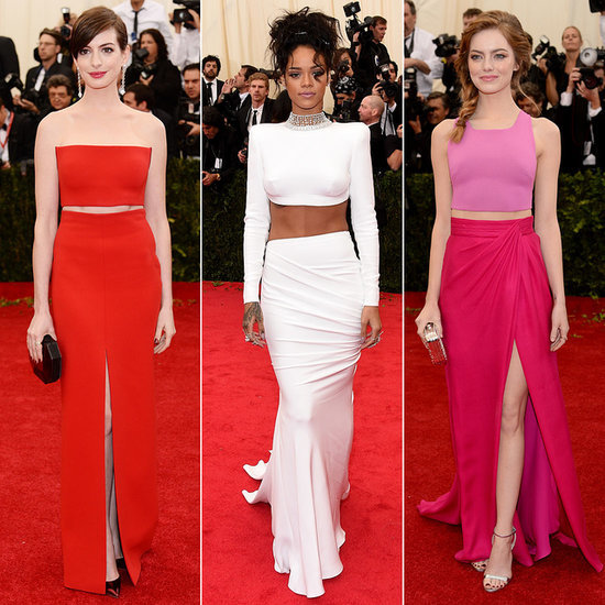 Celebrities Wearing Crop Tops at the 2014 Met Gala