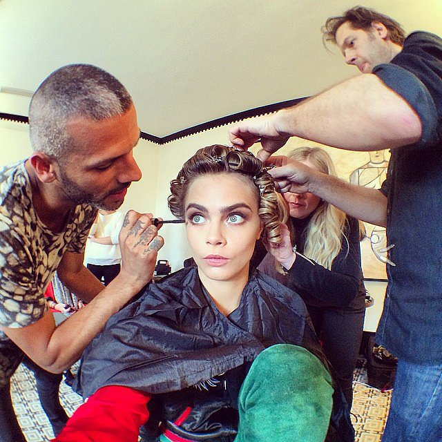 Cara gave us a glimpse of the team in charge of getting her red carpet-ready. Source: Instagram user caradelevingne