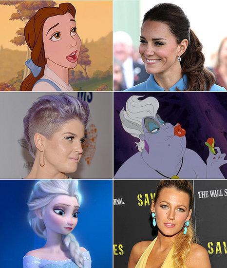 Disney Princesses, Cartoons, and More Bizarre Celeb Beauty Twins
