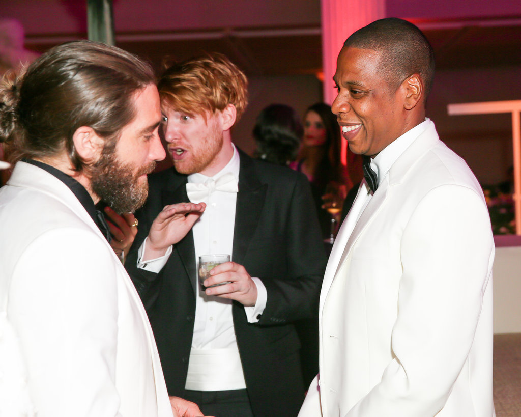 Jay Z chatted with Jake Gyllenhaal.