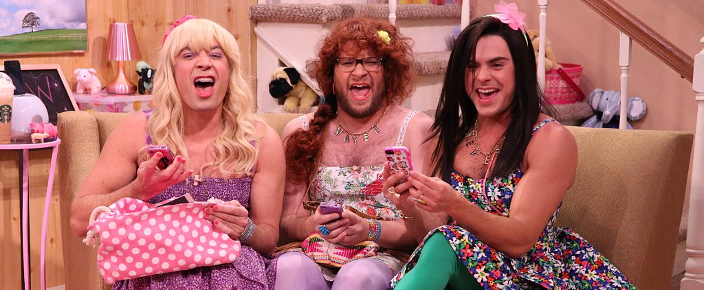 Watch Zac Efron Dress Like a Girl With Seth Rogen and Jimmy Fallon