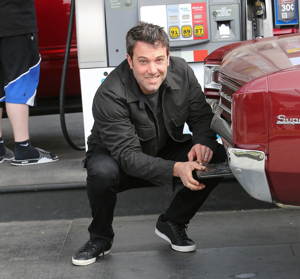 Ben Affleck's boyish grin coupled with his tough-guy stance made his gas stop in LA completely adorable.