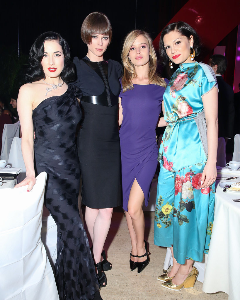 Dita Von Teese, Coco Rocha, Georgia May Jagger, and Jessie J attended the annual Delete Blood Cancer Gala in NYC on Wednesday. The event was sponsored by Coty, where Georgia serves as the global ambassador in the fight against blood cancer.