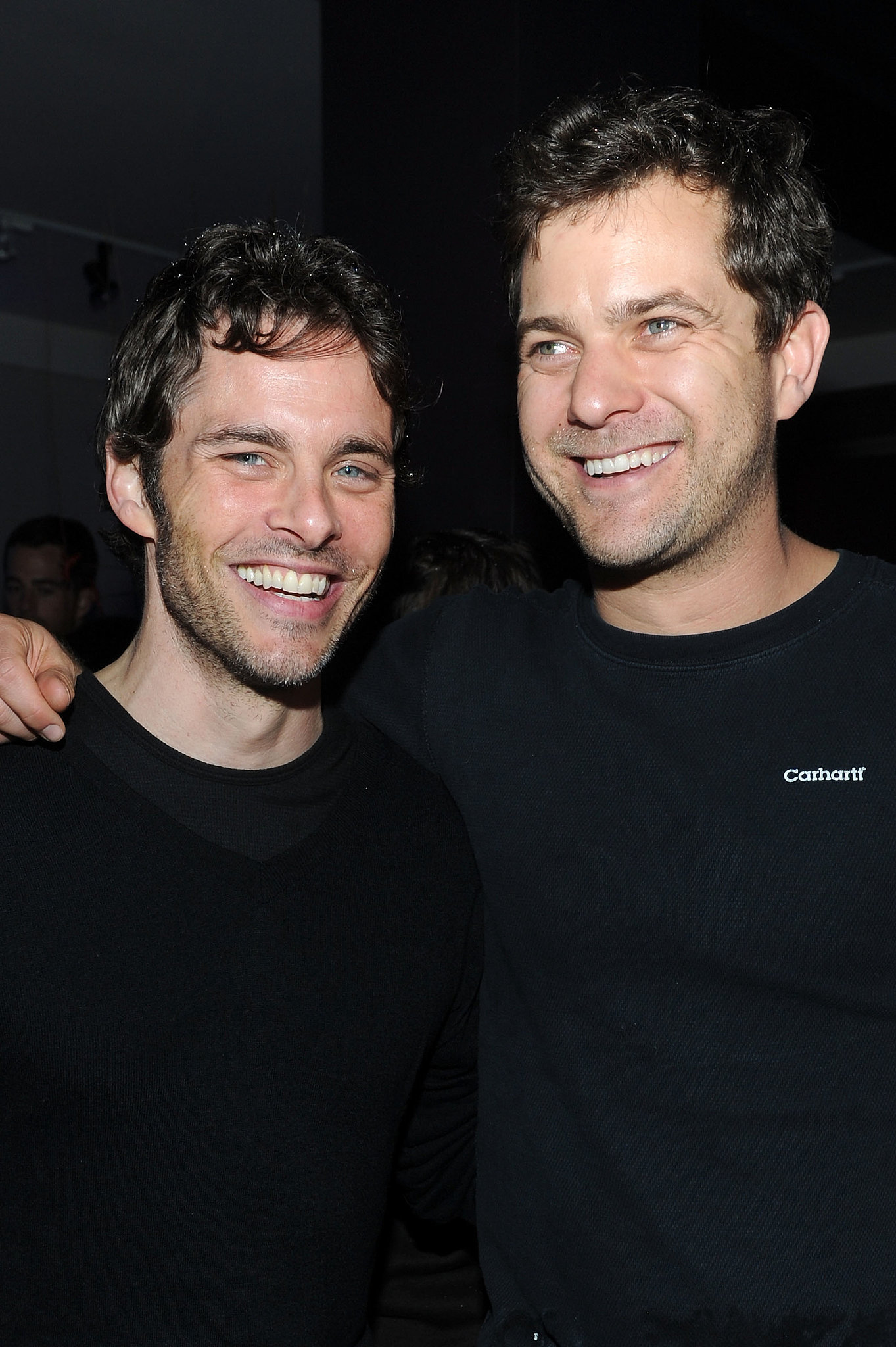 It doesn't hurt when he hangs out with other sexy stars — like James Marsden.