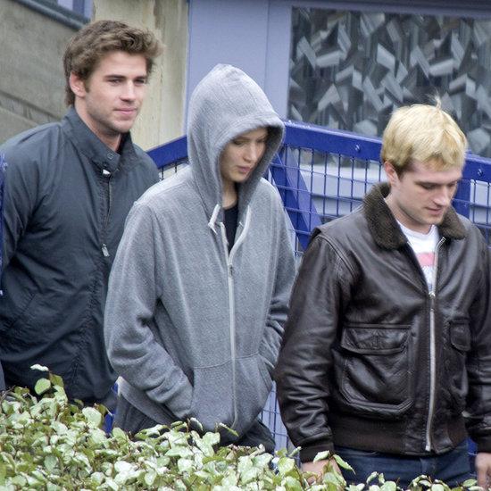 Jennifer Lawrence and Liam Hemsworth Filming Mockingjay