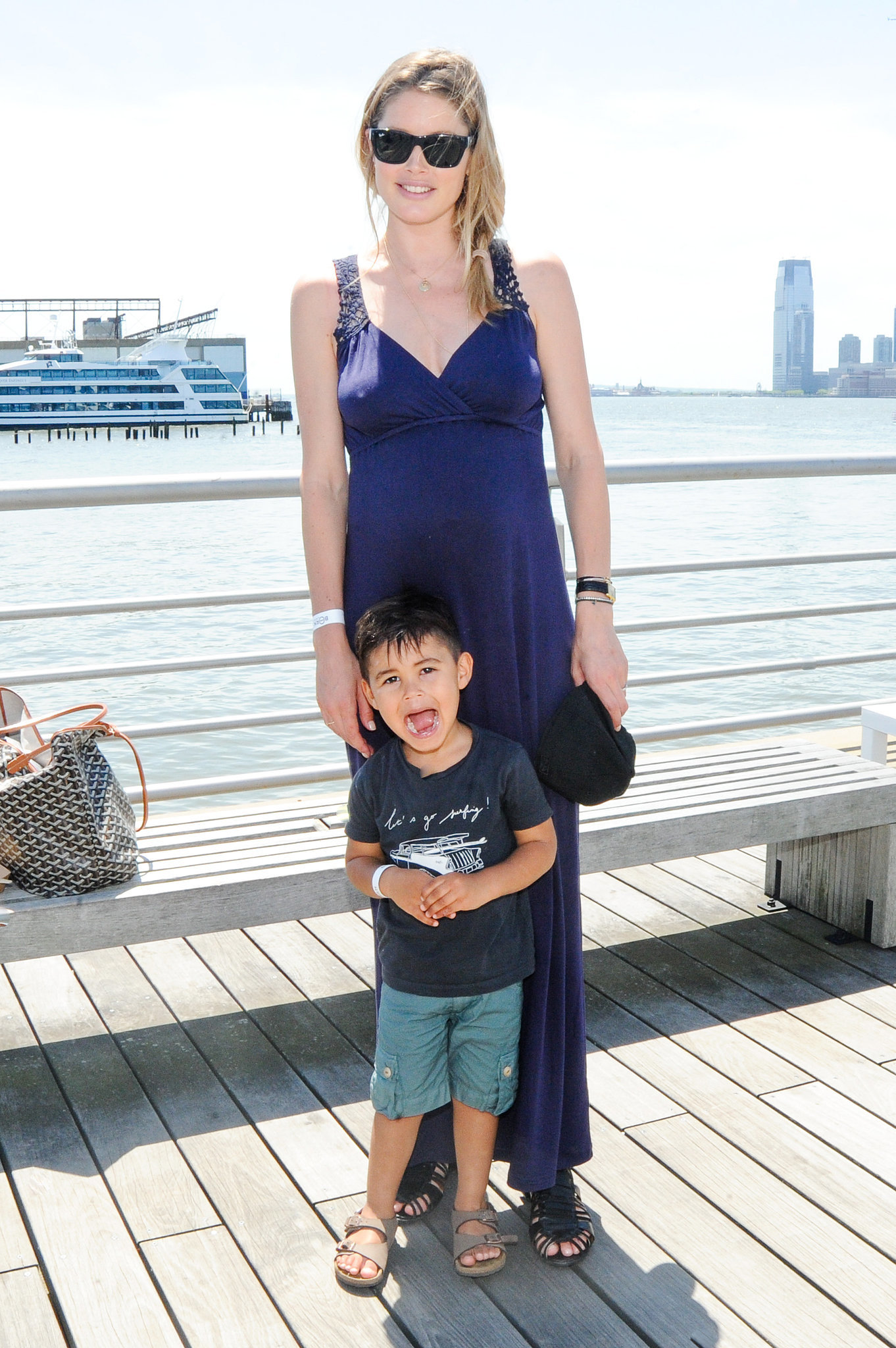 Pregnant Doutzen Kroes spent Mother's Day at the bash.