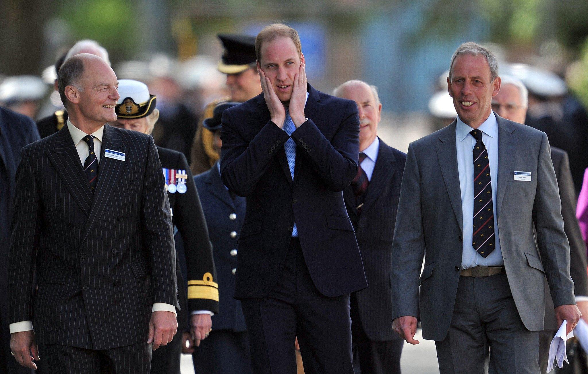 Prince William Drinks on the Job