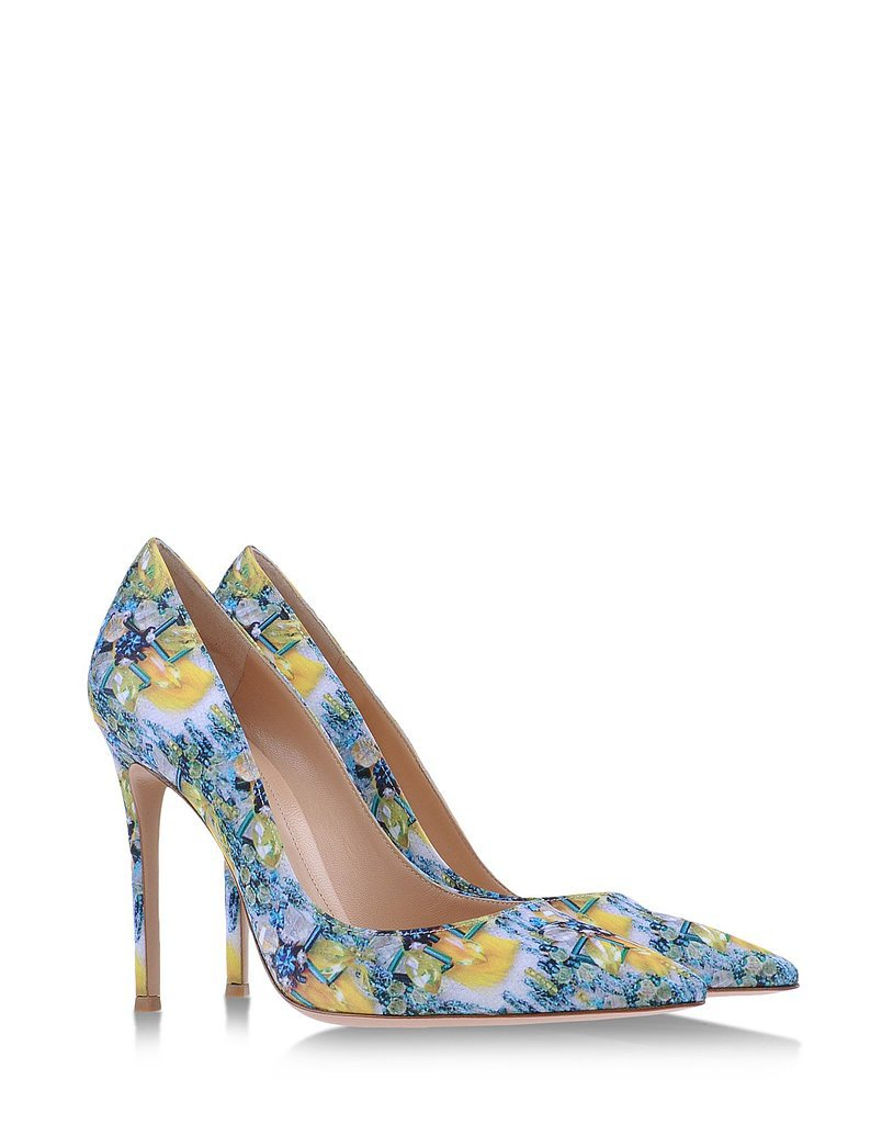 Mary Katranzou x Gianvito Rossi Floral-Print Pumps