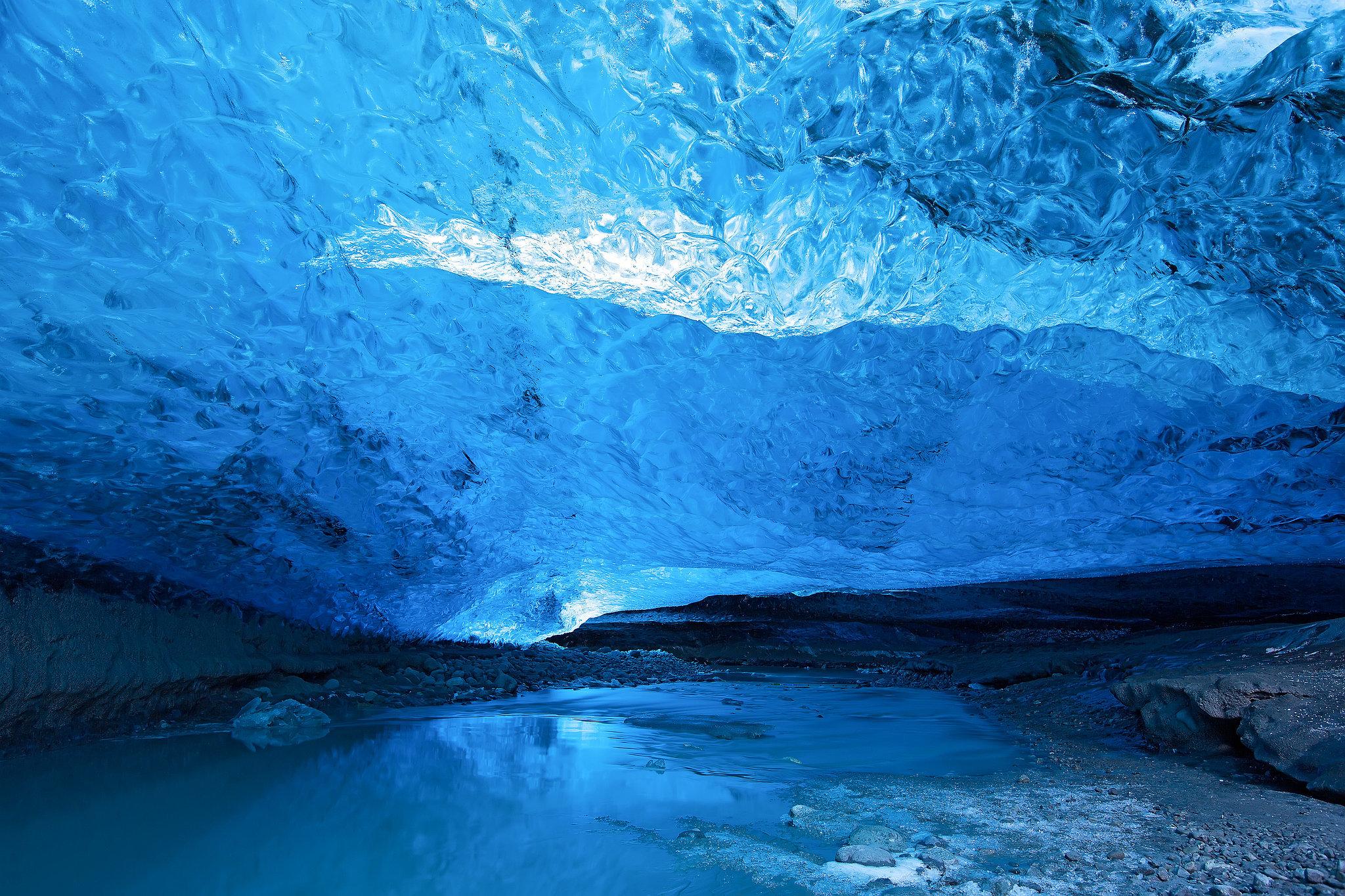 Glacier Ice Cave, Iceland