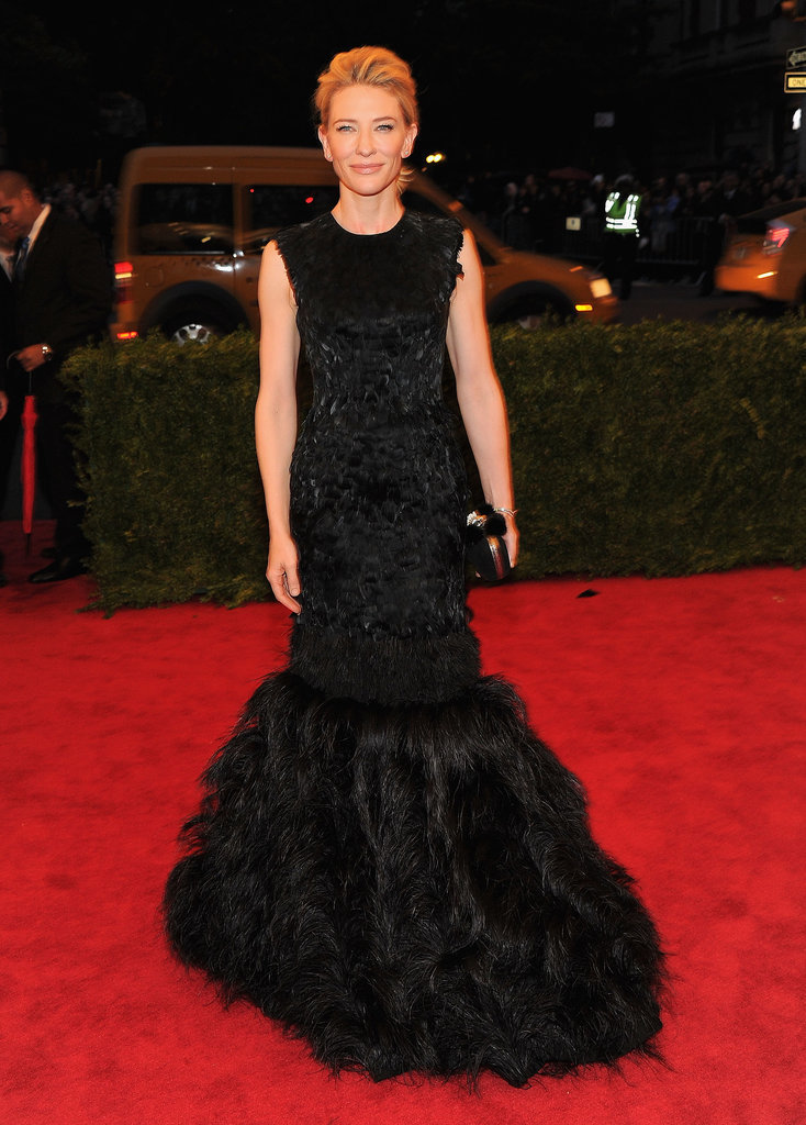 Cate Blanchett in Feathered Alexander McQueen at the 2012 Met Gala