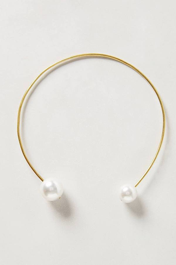 Anthropologie Double Pearl Choker