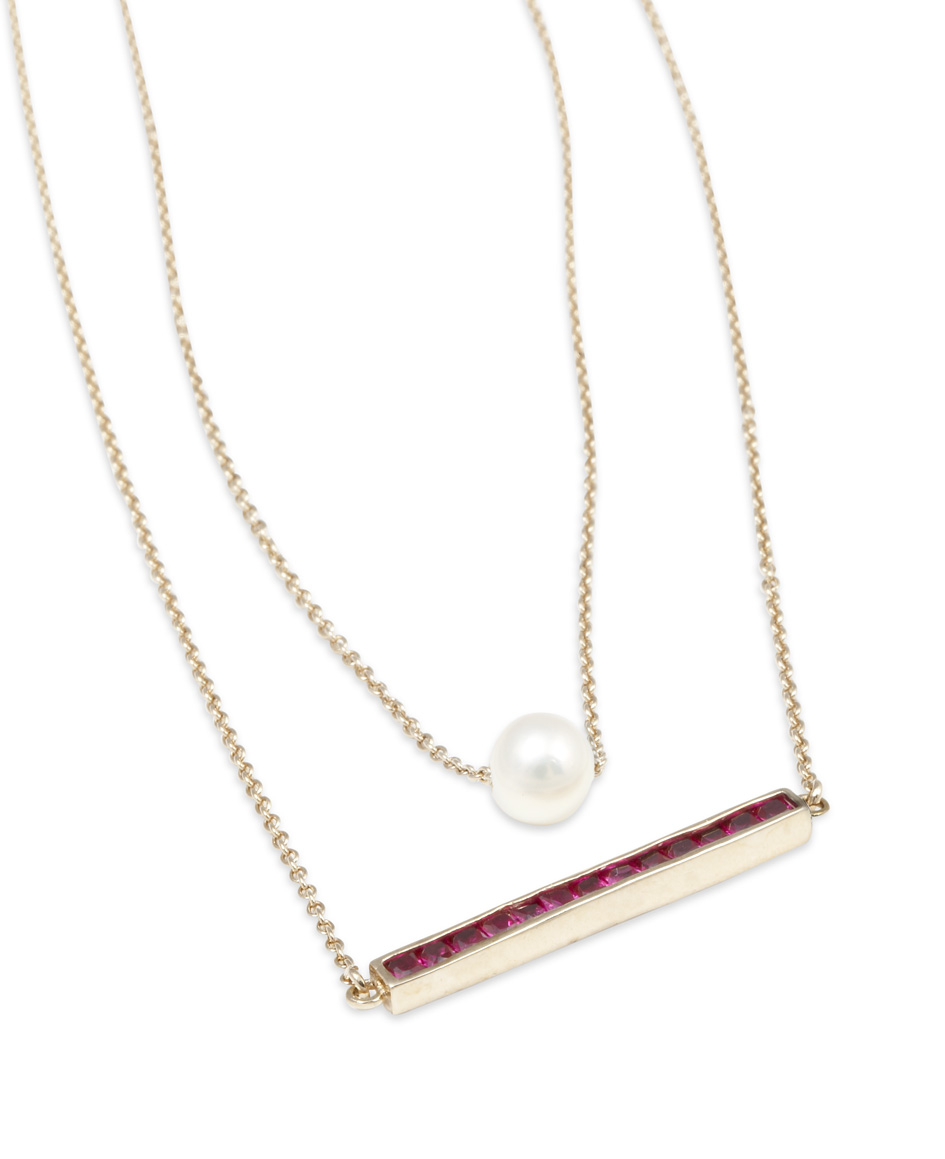 Gold Philosophy Layered Pearl Necklace