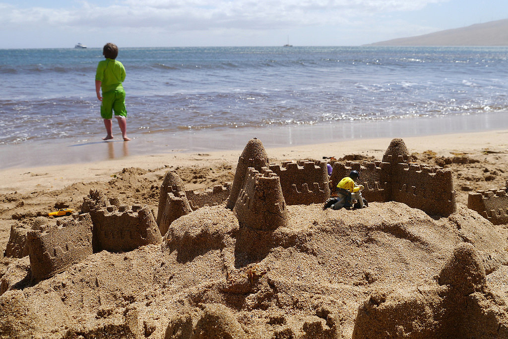 He Makes Awesome Sandcastles