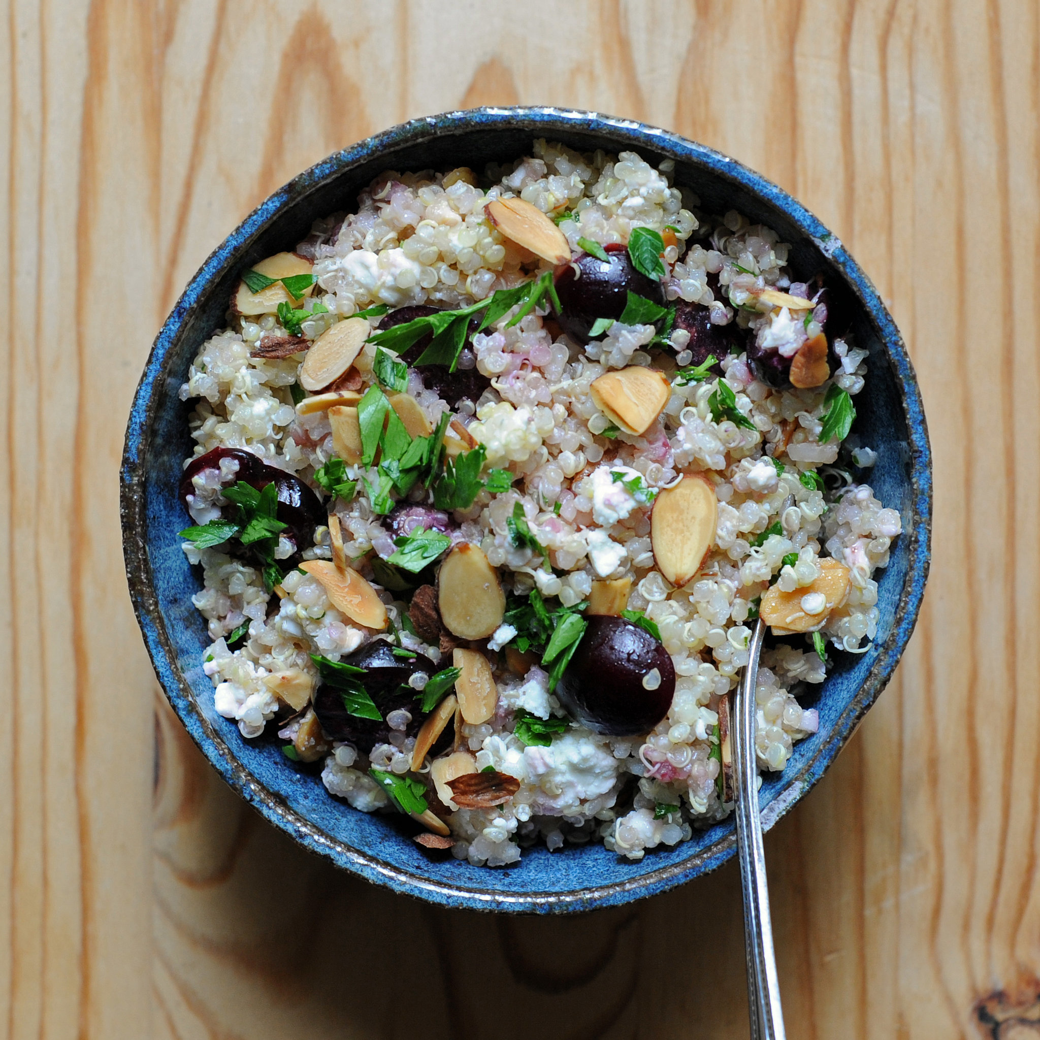 Quinoa Salad With Cherries and Feta