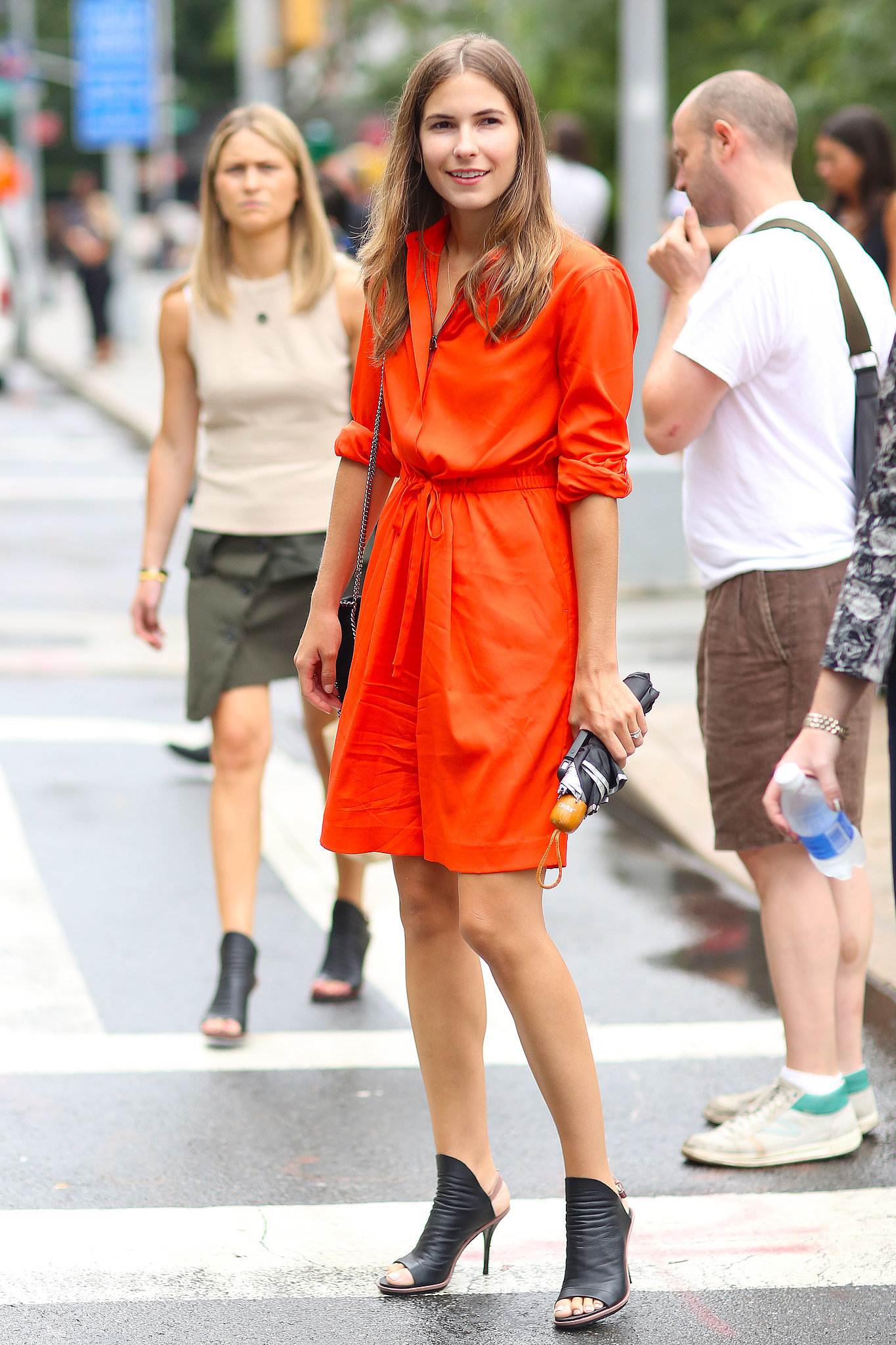 This is all we want to wear to work this Summer — a breezy, bold-hued dress and a great pair of heels go from the office to happy hour in a flash.