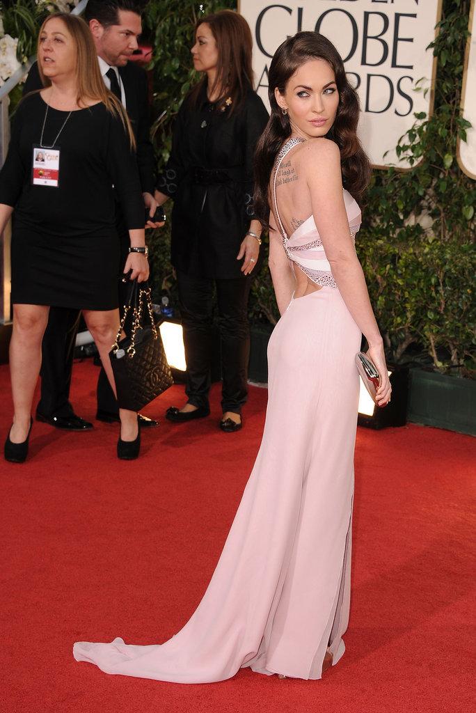 Megan Fox in Armani Privé at the 2011 Golden Globes