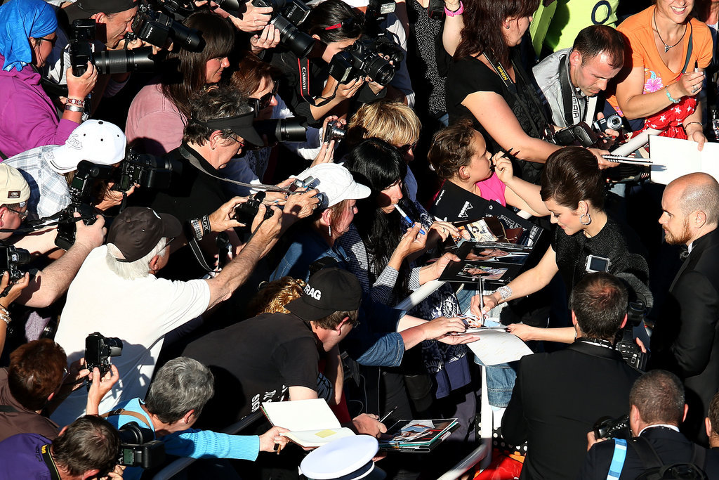 Signing Autographs at Cannes