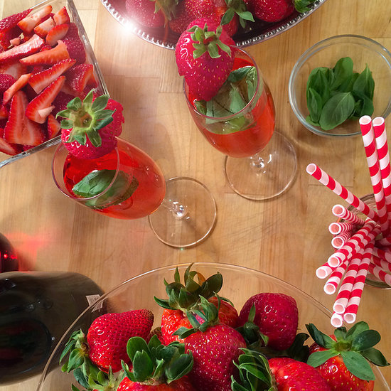 Strawberry Champagne Cocktail Recipe | Video
