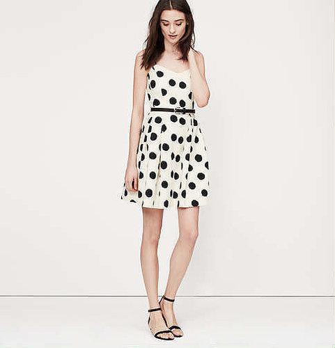 LOFT Dot Cutout Back Dress